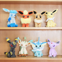 Wholesale Retail Pokemon Pocket Monster Styles quot Leafeon Glaceon Eevee Jolteon Vaporeon Flareon Espeon Umbreon plush toy stuffed doll Best gift