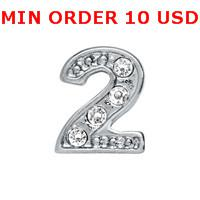 Cheap Charms NUMBER 2 charms Best for locket mixed number glass