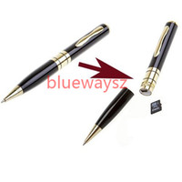 Wholesale HOT AVI HD Spy Pen Hidden Mini Camera Cam Pen Camera Camcorder Mini DV DVR Video Support Micro Sd Card Business Portable Recorder