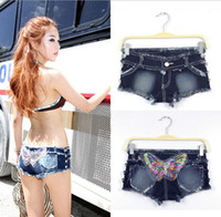 Shorts - Hot sale new butterfly shorts summer women s personality cool short jeans for women denim shorts sexy European style nightclub