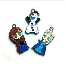 Wholesale frozen Elsa Anna amp Olaf Metal Charms Pendants DIY Jewellery Making