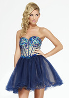 Cheap Reference Images homecoming dress Best Tulle Sweetheart blue homecoming dress