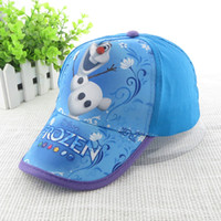 Children Caps Frozen Girls Baseball cap cartoon Olfa summer ...