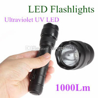Yes other Black Wholesale - Super Bright Purple Light Bulb UV Ultraviolet LED Flashlight 502B 1000LM Waterproof LED Torches free shipping