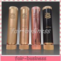 Wholesale 4 Colors King V2 Mod Mechanical Mod Clone Knurled Improof Brass Copper Black fit Battery Trident v2 Stillare
