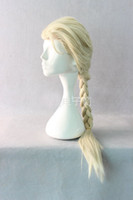 Wholesale 2014 Elsa Cosplay Wig Frozen Snow Queen Weaving Braid Popular Cartoon Girl Elsa Hair Long Wig