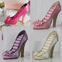 12.5 cm jewelry shoe holder - Ring High Heel Shoe Holder color choose Bow Tie Jewelry Display Stand Stud Organizer