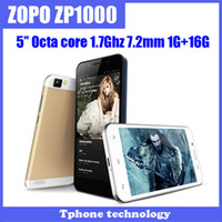 WCDMA Thai Android Original ZOPO ZP1000 5'' 1280X720px Octa core MTK6592 mobile phone 1GRAM 16GROM Android 4.2 14MP+5MP GPS OTG multi-language