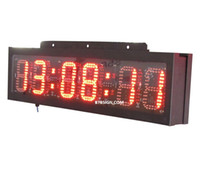 Wholesale 6 Digital High Digits Bright LED Race Timing Clock Horse Sports Outdoor LED Countdown Wall Clock Double Sided Wireless Remote