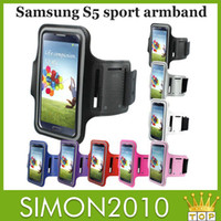 Wholesale Armband Case Nylon Running Gym Sport cover waterproof For iphone quot quot Samsung galaxy S5 S4 S3 i9600 i9500 Arm Band cellphone bag