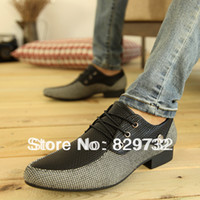 Wholesale new british style flats fashion men fashion pointed toe casual shoes transpierce formal small leather shoes