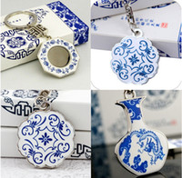 Wholesale Chinese Style Ceramic Keychain Retro Keychain With Gift Box mix style