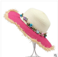 Girl Summer Visor 2014 Fashion Baby girls sunhat children summer Lafite straw hat girl topee caps