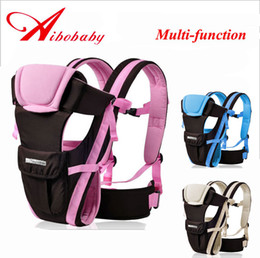 Wholesale Baby Carriers Multifunction Cotton Sling Baby Shoulders Sling Wrap Toddler Boys Front Carrier Backpacks Pink blue M Kg