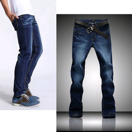 Wholesale Plus size Mens true jeans Casual Washed dark Vintage blue Jeans Men Brand Denim Overall Skinny Jeans big size