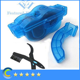 Wholesale Professional Bicycle Chain Box Cleaner Cycling Bike Brushes Machine Scrubber Wash Tool Kit set box cleaner brushe Lubrication Cleaning