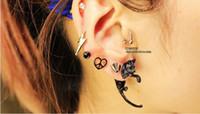 Wholesale 3D fluorescence long tail cat earrings leopard Charm Earrings