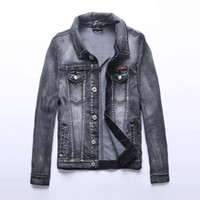 Wholesale New Arrival Fashion Jean Jackets for Men Lover type True Denim Jackets Plus size size blue True trench coat Jacket men