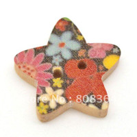Quilt Accessories Buttons Yes Free Shipping 100 Star Shape 2 Holes Wood Sewing Buttons Scrapbook 18x17mm Knopf Bouton(W01521 X 1)