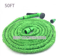 Wholesale Top quality Fast Connector FT Blue Green Garden Water Hose with nozzle gun tap connector working meters for US EU