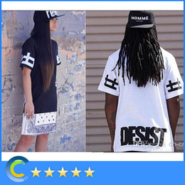 Wholesale Newest T shirt Skirt CEASE DESIST lover Zipper Hip Hop HipHop Tee T shirt Short Sleeve CEASE DESIST HBA black white