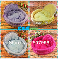 Wholesale hot sell Good Quality Pet dog cat soft princess bed colors size S and size L D
