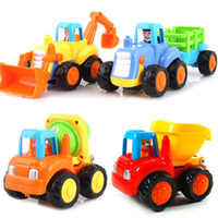 Wholesale High Quality Sturdy Well made Run very fast Colorful Children toy friction car tractor bulldozers mixer dump truck