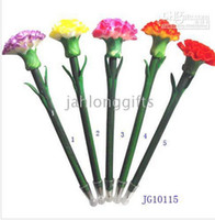 ball pen corporate gift - Corporate Gift Hand Made Polymer Clay Carnation Flower Ball Point Pens Garden Stake Assorted