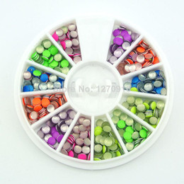 Wholesale- Free shipping 3D Neon Round Metal Nail Art Decoration Alloy Nail Studs Cell Phone Accessories