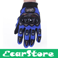 Wholesale Pair Full Finger Gloves Cycling Bicycle Motorcycle Outdoors Sports Blue XXL XL L M