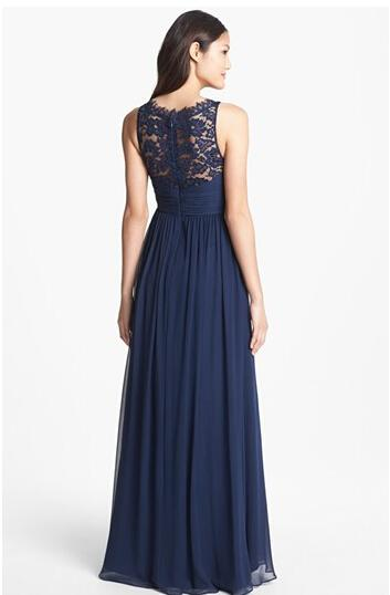 Navy Blue Bridesmaid Dresses With Sleeves Photo Album - Weddings Pro