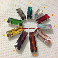 Wholesale Rich Colors U Choose x24mm Baguette Fancy Stone Rectangle Crystal Clear Color pointback stones