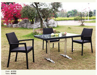 Wholesale Outdoor furniture poly rattan dining chair and KD table set B0962