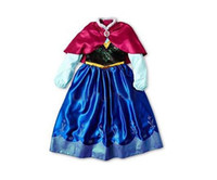 Wholesale autumn tutu kids girl party Children princess costume baby girls anna elsa dress with cape long sleeve new kid dress