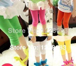 Wholesale Spring Colorful Cheap Perneiras Para Bebe Capri Pantyhose Child Girls Leggins Kids Leggings For Sale