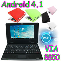 Wholesale 5pcs Q705 VIA quot Android Netbook Cortex A9 GHZ Mini Laptop PC Notebook WIFI HDMI Webcam Q703 DHL