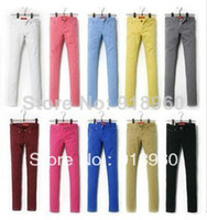 Wholesale XS XXL women s Pants s candy colored pencil pants skinny pants legging pants long trousers boot cut WOl