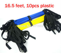Wholesale pc feet Soccer Training Speed agility ladder Quick Flat Rung Agility Ladder carry bag LA