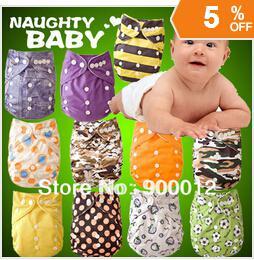 Free Shipping Printed Bamboo Baby Cloth Diaper 50pcs+100pcs 4 layers(2+2) Bamboo charcoal inserts