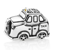 Wholesale Sterling Silver Union Jack London Taxi Charm Beads for Pandora Bracelet