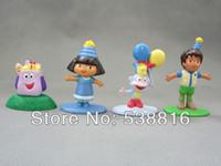 Wholesale 4pcs Set Dora the Explorer Dora Diego MR FACE Boots Monkey PVC Figure Toy cm Doll Toys Kids Gifts Retail amp