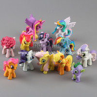 Wholesale Anime Cartoon My Little Pony Loose Figures Pony PVC Action Figure Toys Dolls set DSFG131