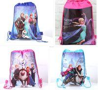 Wholesale 4styles drawstring bags Anna Elsa sofia the first backpacks handbags children s school bags kids shopping bags present