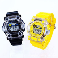 Wholesale Watch Chronograph Multifunctional Electronic Watches ATM Waterproof Sports Fashion Transparent Clock