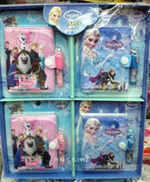 Wholesale Hot Box New Lovely Frozen Notebook stationery x cm perfect for Birthday Gift