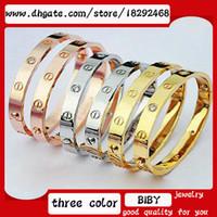Wholesale Titanium steel bracelet rose gold bangle eternal love lovers bracelet screwdriver z001