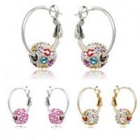 crystal earrings - Diamond rolling cherry ball Crystal Earrings Jewelry primrose earrings Austria crystal Earrings with Swaroski Element party earrings