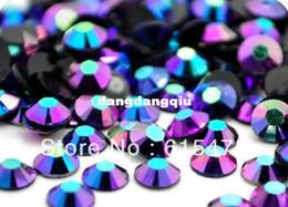 Wholesale-6mm Jelly Sapphire AB Color SS30 crystal Resin rhinestones flatback Nail Art Rhinestones,10,000pcs bag