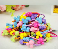 Wholesale 150pcs Korea Colorful Plastic Elastics children s Kids candy color rubber band baby Girl Hair accessories headdress
