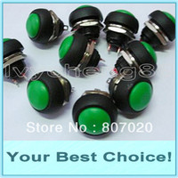 Yes 250VAC 1A 200pcs Lot Momentary OFF-(ON) Push Button Horn Switch,Green(DHL Free Shipping )